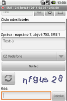Screenshot of CZ SMS