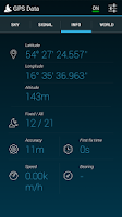 Screenshot of GPS Data