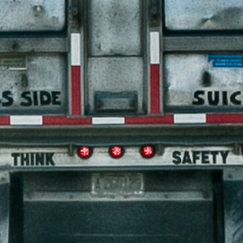 Take Heed by Nancy Merolle - Transportation Other ( sign, overtaking, safety, truck, transportation, road, notice, passing, take heed,  )