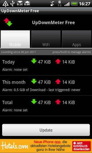 updownmeter-free for android screenshot