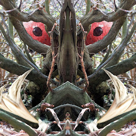 Beware the Jabberwock, my son! by Dark Reid - Digital Art Abstract ( jabberwock, fairy tails, monster, nonsense, jabberwocky, lewis carroll )