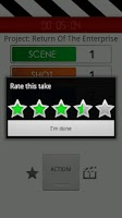 Screenshot of Film Buddy Pro slate board