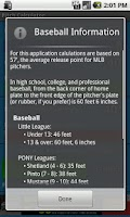 Screenshot of Baseball Pitch Calculator
