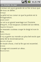 Screenshot of La citation du jour