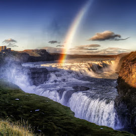 Gullfoss Island. by John Aavitsland - Landscapes Travel