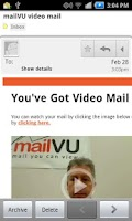 Screenshot of mailVU Video Sharing