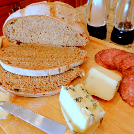 Our daily bread... by Elfie Back - Food & Drink Meats & Cheeses ( jause, merienda, food still life, bread and cheese,  )