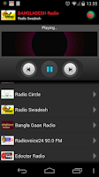 Screenshot of RADIO BANGLADESH