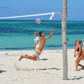 Beach Volleyball with the Family by Tonja Wolfe-Throgmorton - People Street & Candids