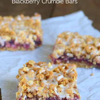 Brown Butter Blackberry Crumble Bars