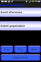 Screenshot of Pocket Polyglot Slovak