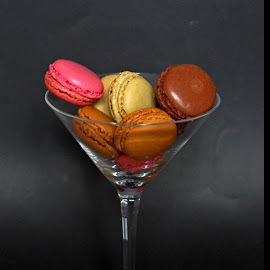 macaroons by Joseph Muller - Food & Drink Cooking & Baking ( chocolate, raspberry, coffee, macaroons,  )