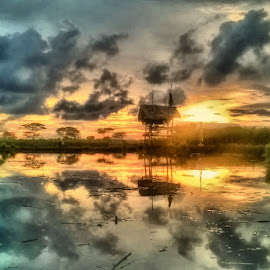 sunset with gubug by Dwi Haris Fitriansyah - Instagram & Mobile Other