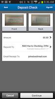 Screenshot of BMO Harris Mobile Banking