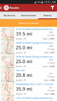 Screenshot of Map My Ride GPS Cycling Riding