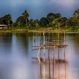 Pondok Sawah by Bobby Vioranda - Landscapes Prairies, Meadows & Fields