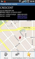 Screenshot of Postal Services Locator