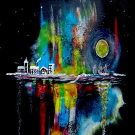 December night by Torbjørn Ståle Asphaug - Painting All Painting