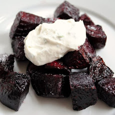 Roasted Beets with Chèvre-Yogurt Sauce