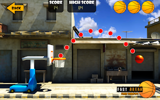 Screenshot of Fast Break Free Throws