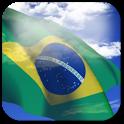 3D Brazil Flag icon
