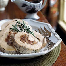 Fig and Stilton-Stuffed Turkey Breast with Port Sauce