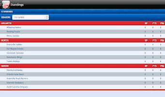 Screenshot of ECHL