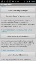 Screenshot of Business Plan & Start Startup