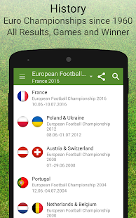 Euro 2016 Schedule & Results - screenshot