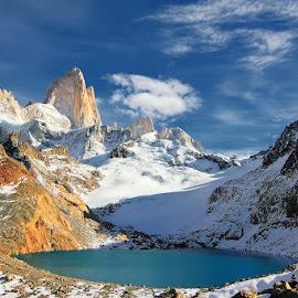 Laguna de Los Tres !! by Itamar Campos - Landscapes Travel ( argentina, laguna, patagonia, fitz roy, el chalten )