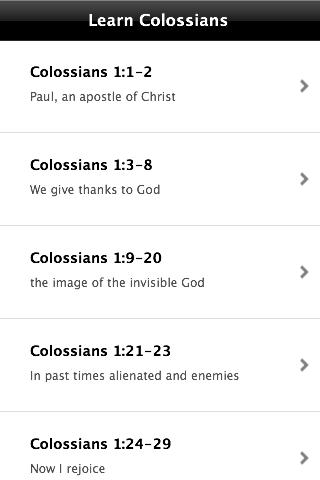 Learn Colossians