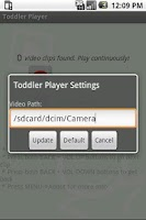 Screenshot of Toddler Video Player