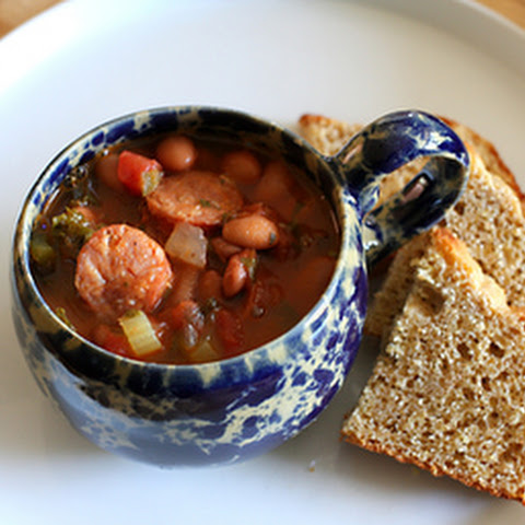 Pinto Bean Soup With Cajun-Style Sausage