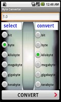 Screenshot of Byte Converter
