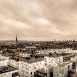 Stockholm Photo from Karlavägen. by Niklas Skur - City,  Street & Park  Skylines ( sweden, building, skyline, stockholm, wallpaper, city life, cityscape, city, sky, city view, artistic, buildings, city skyline )