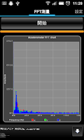Screenshot of Mobile FFT Analysis