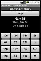 Screenshot of add Number Game
