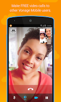 Screenshot of Vonage Mobile® Call Video Text
