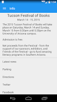Screenshot of Tucson Festival of Books