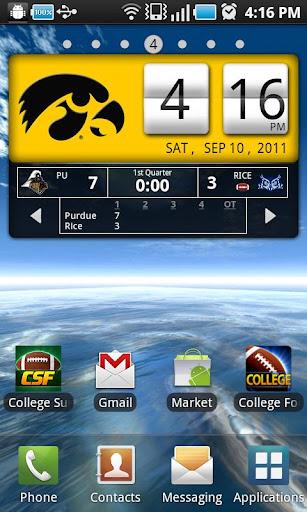 Iowa Hawkeyes Live Clock