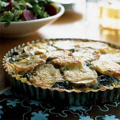 Spinach and Gruyère Tart in a Three-Pepper Crust