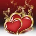 Burning hearts theme 480x800 icon