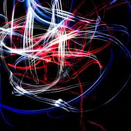 Rollercoaster of light by Edith Melgar - Abstract Light Painting ( abstract, modern, lights, light painting, painting with light, colors, colored lights )