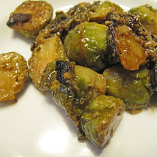 Brussels Sprouts in Pancetta Cream