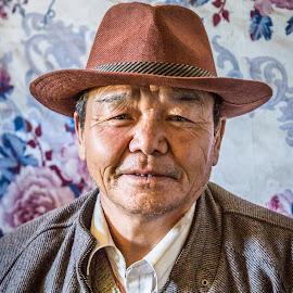 Tibetan Man by Mark Prusiecki - People Portraits of Men ( potrait, tibetan, travel, tibet, man )