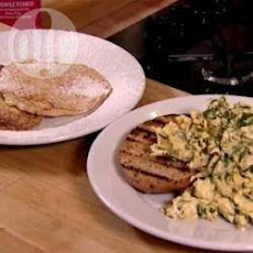 Delicious Apple Pancakes And Herby Scrambled Eggs