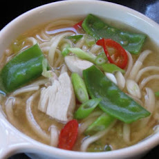 Chicken and Noodle Miso Soup
