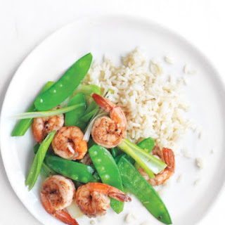Salt-and-Pepper Shrimp with Snow Peas
