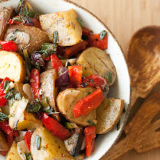 Grilled Potato Salad with Charred Onions and Peppers