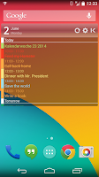 Screenshot of Clean Calendar Widget Pro